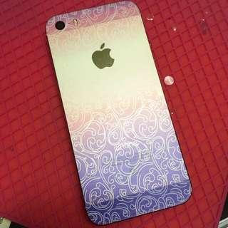 手機包膜 Iphone5s 美色雙漸層圖騰💃