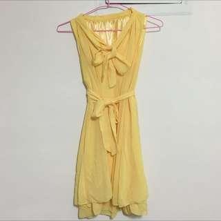 黃色洋裝/一件式/二手/隨便賣