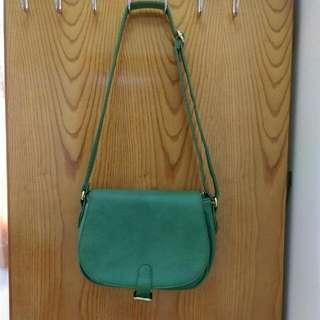 復古郵差綠包包
