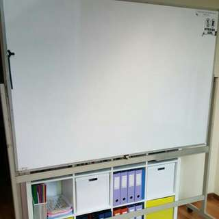 Movable Whiteboard With Stand And Wheels