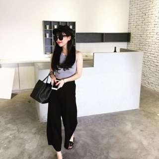 秋預購🌹韓版時尚寬鬆顯瘦修身彈力闊腿長褲