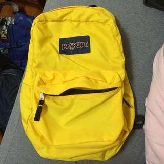 Jansport黃色後背包