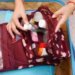 盥洗化妝包【Allen小舖】俏麗青春大容量多功能盥洗包/化妝包