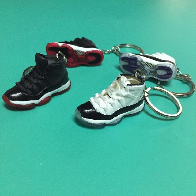 球鞋3D鑰匙圈 球鞋鑰匙圈 AJ11 Comcord康扣