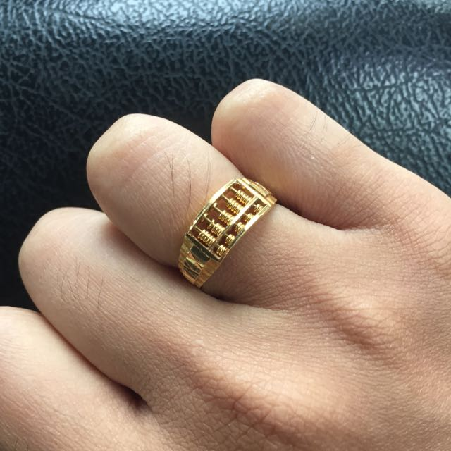 916 Gold Abacus Ring Luxury on Carousell
