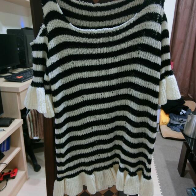 針織甜美洋裝