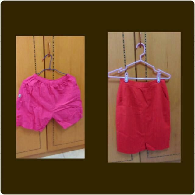 粉紅褲/紅裙