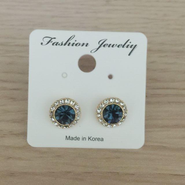 湛藍寶石耳環