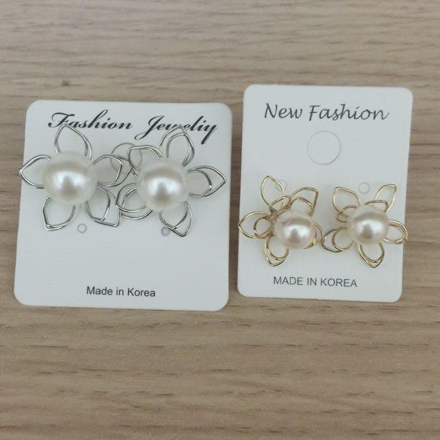 珍珠花耳環