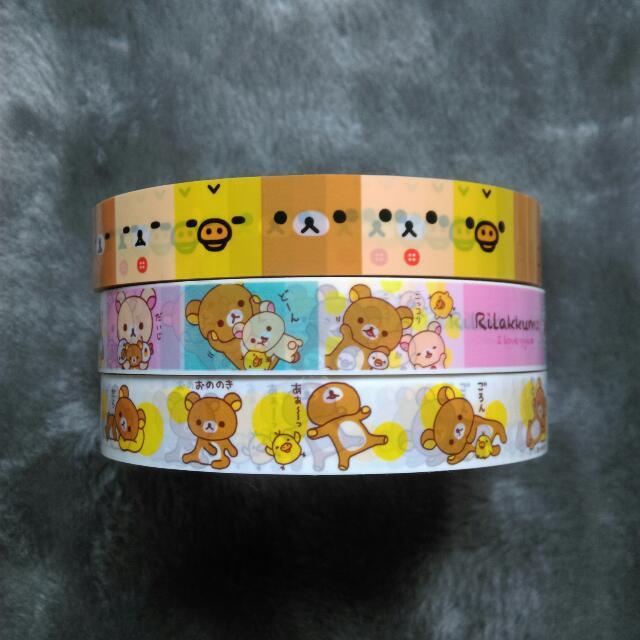 拉拉熊 懶懶熊 Rilakkuma 裝飾膠帶