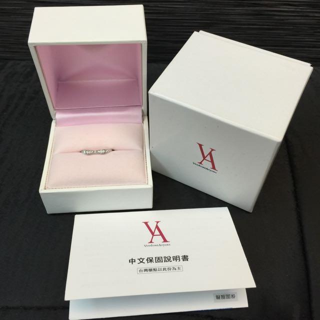 專櫃正品 日本品牌Vendome Aoyama訂製款白金鑽戒/婚戒/定情戒
