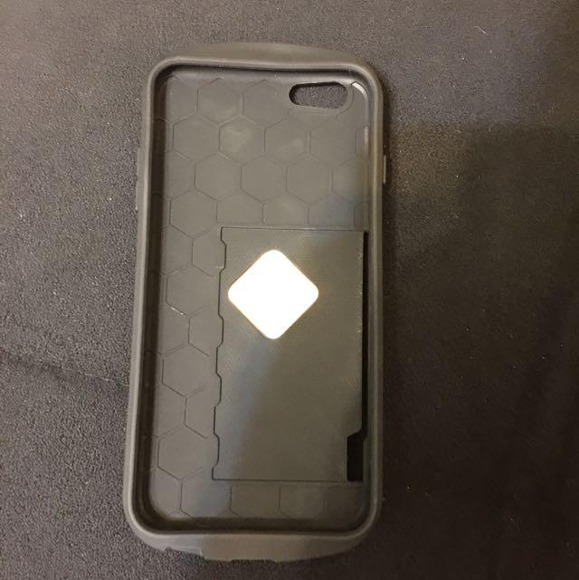 西瓜紅(紅色)可插卡式手機殼iphone-5.5