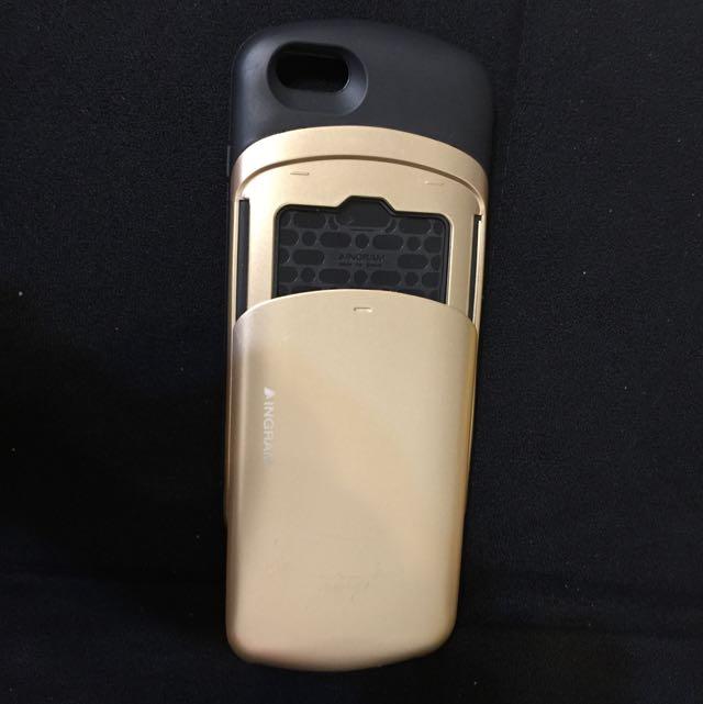 金色可插卡式手機殼iphone6-5.5
