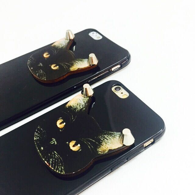 iPhone 5/5s 喵星人 黑貓 立體手機套 超萌