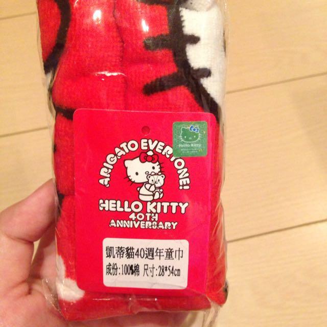 ✨凱蒂貓kitty40週年童巾✨