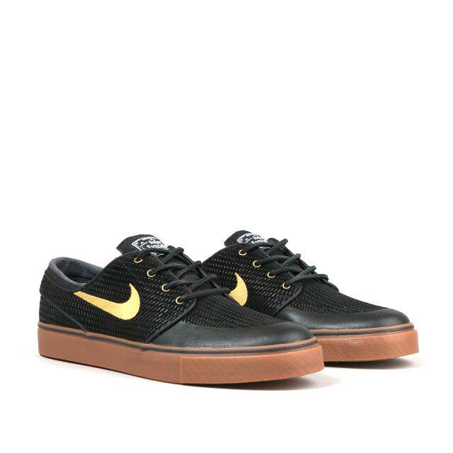 Nike SB Stefan Janoski PR SE Shoes - Black   Metallic Gold   Gum Med ... d0fd5e8257ff
