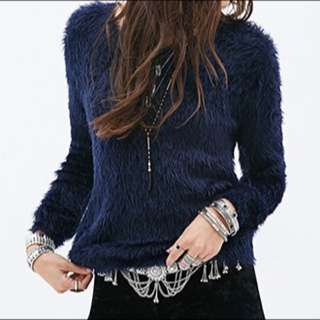 F21 Fuzzy Knit Sweater