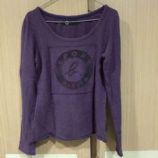 Agnes b sport b 紫色基本款長T 正品