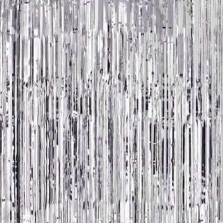 INSTOCK! Silver Curtain Foil Backdrop
