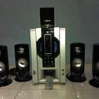 MAGTONE   5.1 Multimedia Speaker Aktif Surrond & Super Bass
