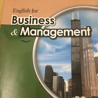 二手 Business Management 英文課本