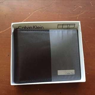 Ck 男用皮夾 全新 附盒子
