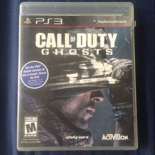 PS3 Game : Call Of Duty Ghost