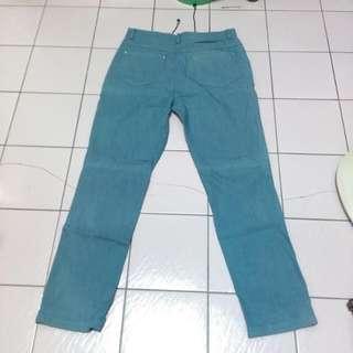 藍色仿牛仔褲