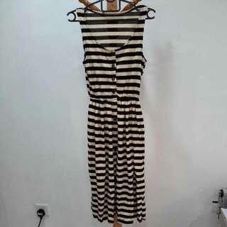Brand New Black & White Long Dress
