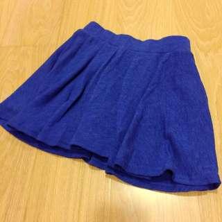 藍色針織傘狀棉裙👈🏼