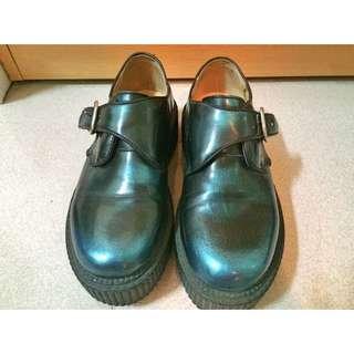 金屬色龐克厚底鞋