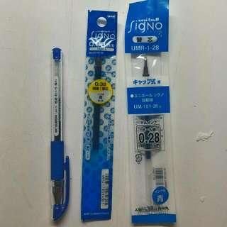 uni中性筆 藍色