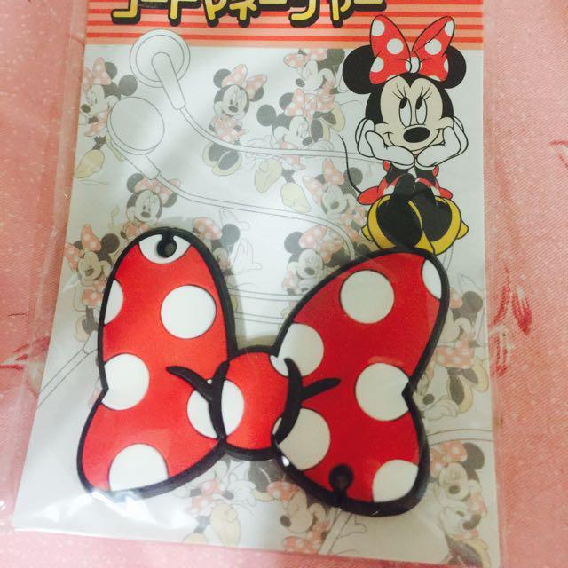 迪士尼米妮耳機捲線器