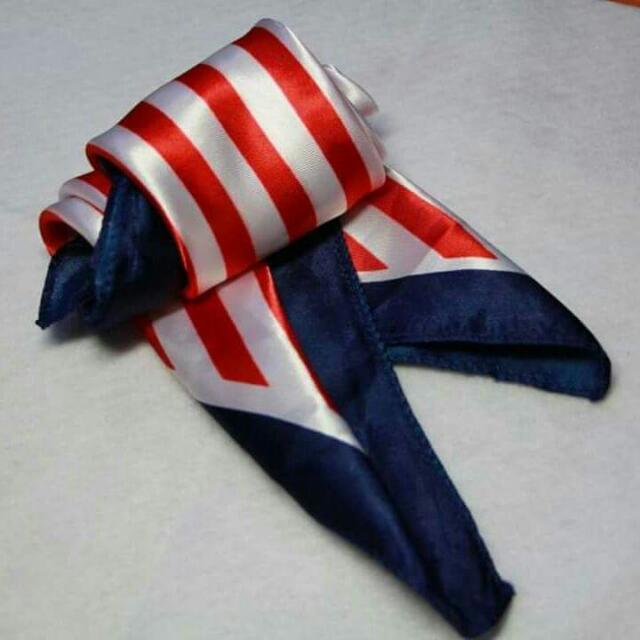 復古海軍風小絲巾