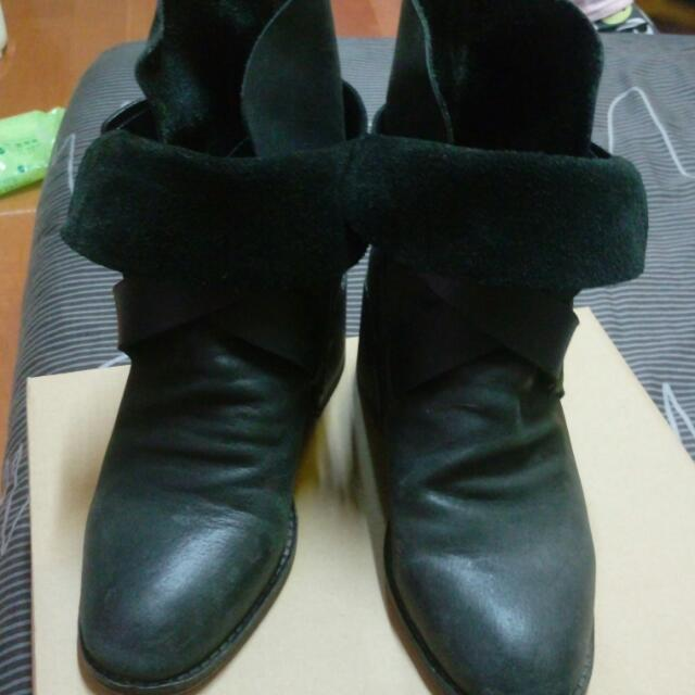 香港設計師真皮兩穿短靴