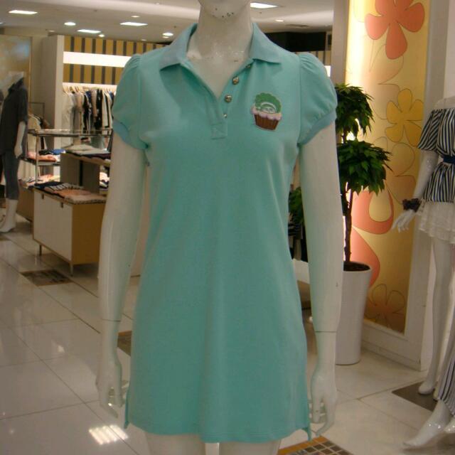 專櫃   湖水綠休閒洋裝