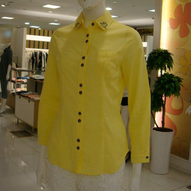 專櫃   黃色長袖襯衫