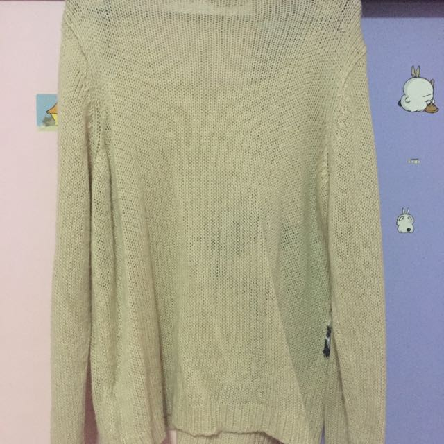 Dorothy Perkins Skunk Knitted Pullover / Sweater (Long Sleeve Top)