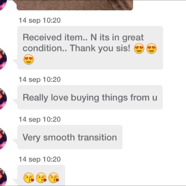 Positive customer's feedback