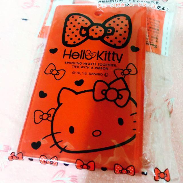Hello Kitty 悠遊卡信用卡㚒(附鍊子可掛包包)