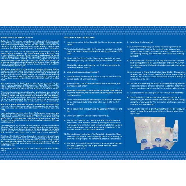 Jean Yip Super Silk BioSpa Ionic Therapy - Intensive Hair