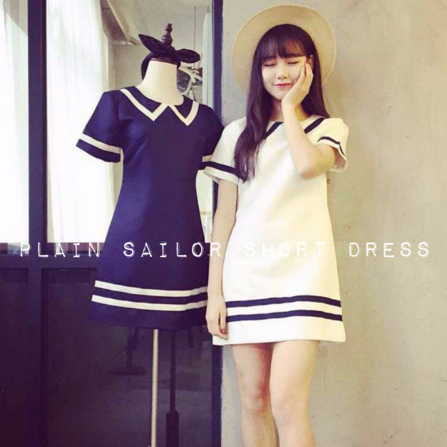 Plain Sailor Short Dress
