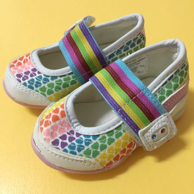 Wonderkids彩色愛心包鞋