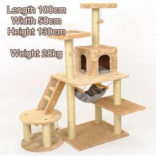 Large 6-Tier Cat Climbing Tree / Playhouse / Cat Condo