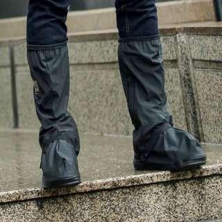 防雨鞋套【Allen小舖】都會時尚男士黑色長筒防水/防雨鞋套 H212