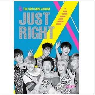 GOT7 Mini 3輯 [JUST RIGHT] 現貨