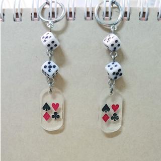 俏皮骰子設計耳環(夾式)