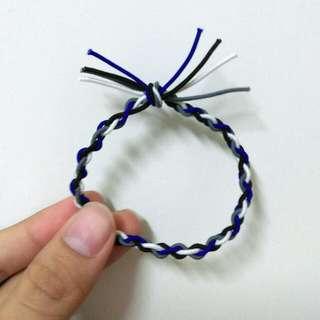 買三送一/編織/髮圈/綁頭髮/藍白灰黑