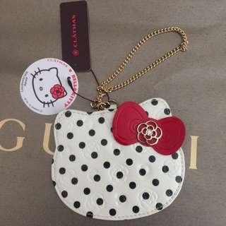 日本小香奈兒 CLATHAS X HELLO KITTY 聯名限定款票卡夾/名片夾(附盒) 情人節禮物