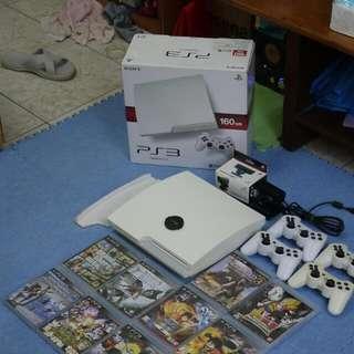 PS3 160G 白 全配